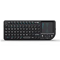 Rii®Mini K01X1 2.4GHz Mini Wireless Keyboard (Built-in TouchPad) For KODI,Raspberry Pi 2, PC, PAD, Google Android TV Box, HTPC, IPTV,XBox 360, PS3, - Black