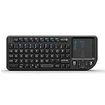 Rii®Mini K01X1 2.4GHz Mini Wireless Keyboard (Built-in TouchPad) For KODI,Raspberry Pi 2, PC, PAD, Google Android TV Box, HTPC, IPTV,XBox 360, PS3, - Black