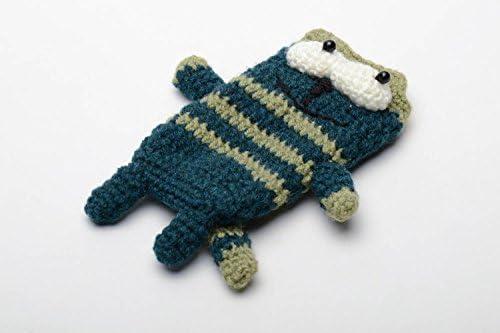 Funda para celular tejida a ganchillo Gato: Amazon.es: Hogar