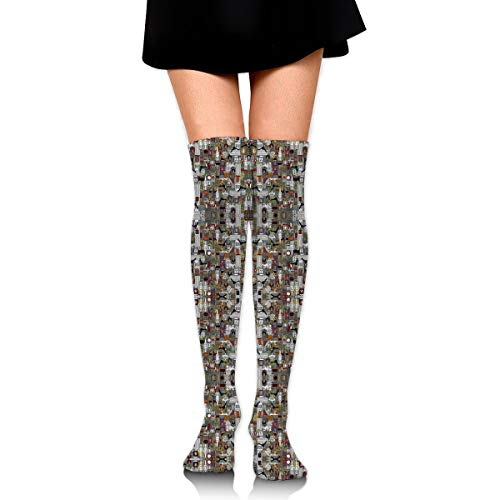 HFJDLSK Halloween Supper XIII Large Fabric Women & Men Knee High Compression -