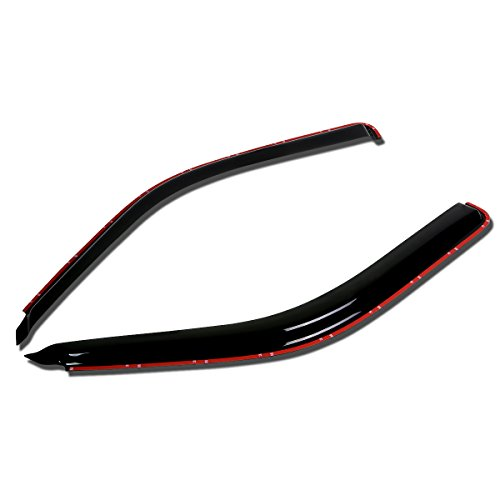 For Ford Explorer/Mazda Navajo 2pcs In-Channel Window Visor Deflector Rain (Mazda Navajo Suv)