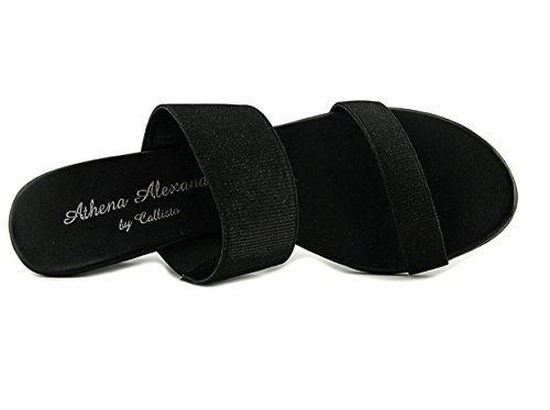 Athena Alexander Besteedt Het Open Teen Synthetische Sleehak Sandaal