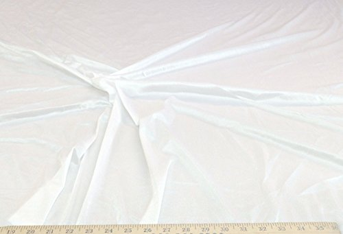 Fabric nylon Tricot stretch White 108' wide Fabric Nylon Tricot