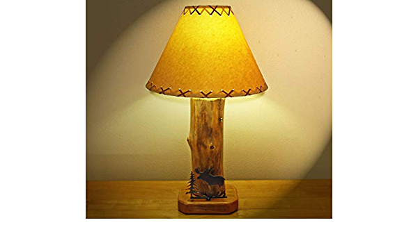 The Caribou Mountain Table Lamp w//14 Parchment Shade