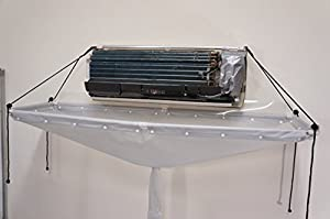 air conditioning cleaning. open type cleaning cover to wash air conditioner conditioning