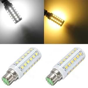 B22 5W White/Warm White 36 SMD5050 LED Corn Light Lamp Bulbs 220V # Color--Warm White