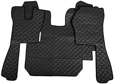 color negro Juego de alfombrillas de piel sint/ética para camiones Scania R 2004-2009 AutoCommerse LHD