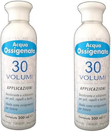 Kit 2 x Agua oxigenada cremosa profesional 30 volúmenes para ...