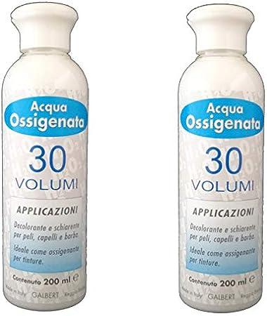 Kit 2 x Agua oxigenada cremosa profesional 30 volúmenes ...