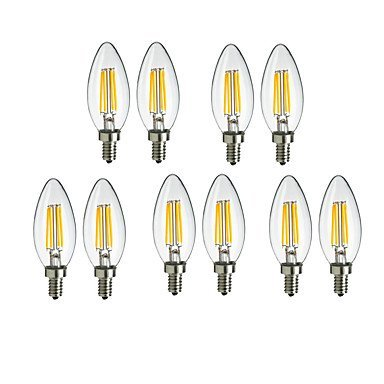 Eeayyygch 10 stücke C35 4W E14 360LM 360 Grad Warm Cool Weiß Farbe LED Glühlampe Licht (220-240), kaltweiß (Farbe   -, Größe   -)