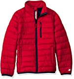 Starter Boys' Packable Puffer Jacket, Amazon Exclusive, Team Red, XS