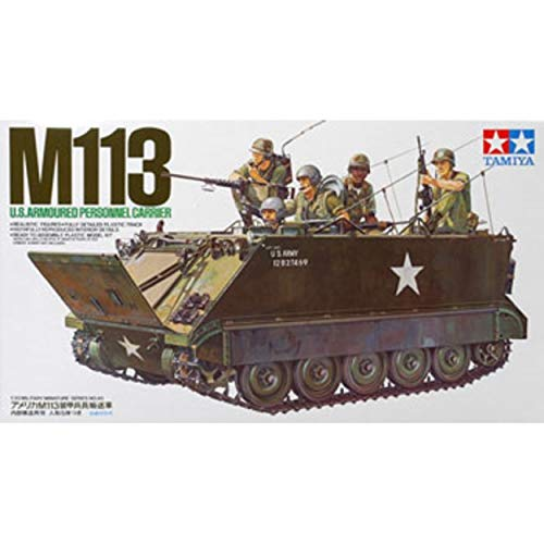 35 Us Army Tank - M-113 US Army Armoured Personnel Carrier Tank w/Soldiers 1/35 Tamiya