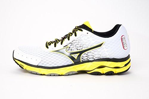 MIZUNO Men's WAVE INSPIRE 11 Running Shoes J1GC154410 WHITE-BLACK-YELLOW (US 9=EUR 42=JPN 27)