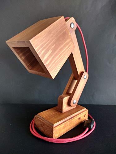 Lámpara de madera reciclada de palet, flexo led para escritorio ...