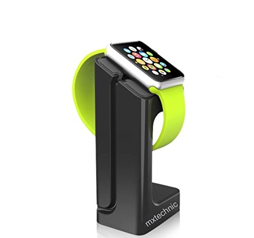 MXtechnic Charging Dock Station for Apple Watch 38mm and 42mm (Black)