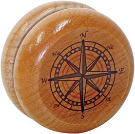 Compass Rose Yo-yo Made in USA Maple Landmark SG/_B00BMRIFM0/_US