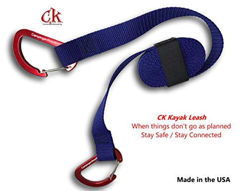(Campingandkayaking CK 8 FT Kayak Leash, Because Things Don't Always go as Planned. Stay Safe – Stay Connected. (Royal Blue))