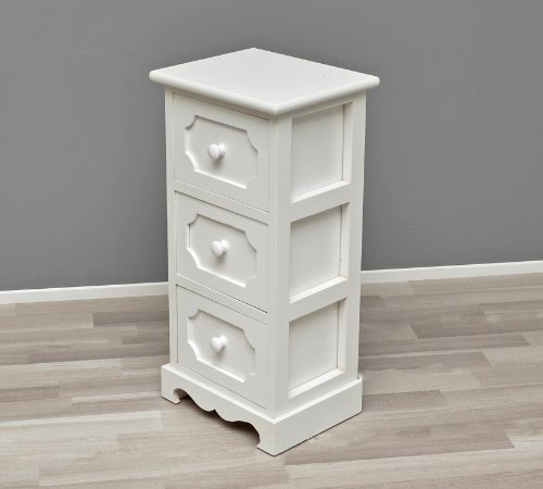 ts-ideen Mobiletto in legno bianco per la cucina,corridoio e per il ...
