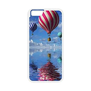 Dustin Balloon IPhone 6 Case Elegant Candy Cane Colored Air Balloons Ilike, Case for Iphone 6 4.7 Luxury [White]
