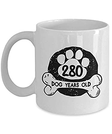 Dog Mugs For Lovers 11 Oz Tea Cup 280 Love Years Old 40 Year Birthday Gifts Ideas Mom 1978 40th Wife Women From
