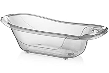 Large 50 Litre Aqua CLEAR Clear / Transparent Baby Bath Tub ...
