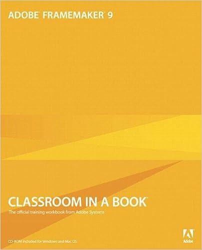 Adobe Framemaker 9 Classroom In A Book Adobe Systems 9780321647504 Amazon Com Books