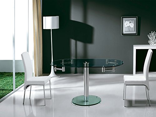 Casabianca Furniture Thao Collection Glass Extendable Din...