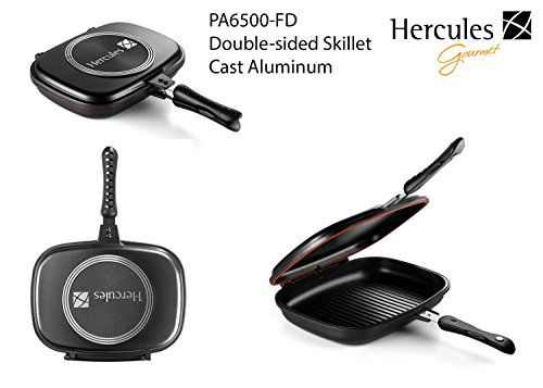 Hercules PA6500-FD Double Sided Skillet Cast Aluminum Non-Stick