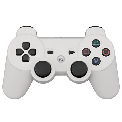 A-szcxtop Six Axis Double Vibrating Wireless Rechargable Bluetooth Gamepad Remote Controller Suitable for Playstation PS3