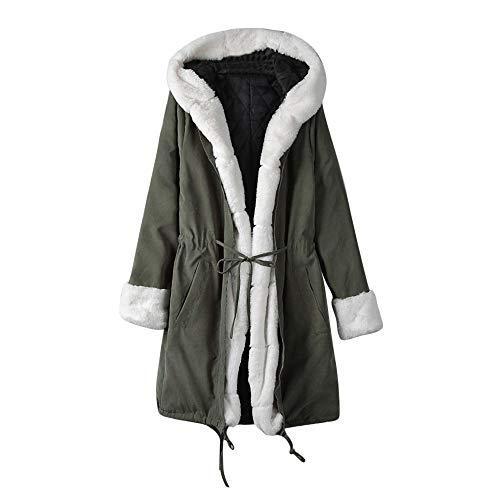 iHPH7 Women Warm Artificial Wool Zipper Coat Jacket Parka Imitation Leather Outerwear