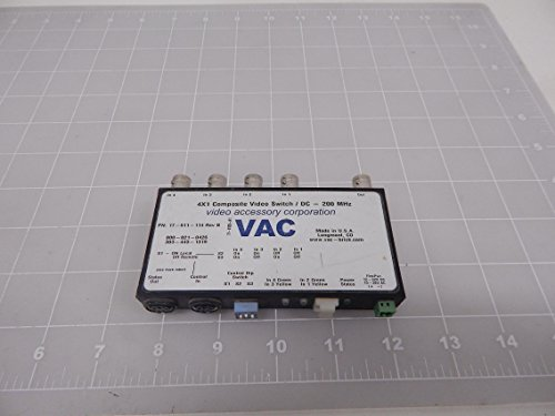 Video Accessory Corporation 17-511-114 4X1 Composite Video Switch/DC - 200 MHz T91829