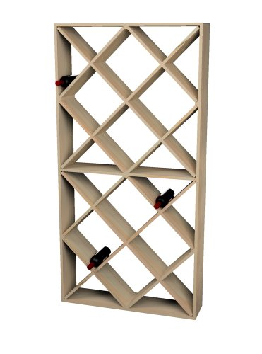 Wine Cellar Innovations Rustic Pine Solid Diamond Bin Wine Rack for 208 Wine Bottles, ()