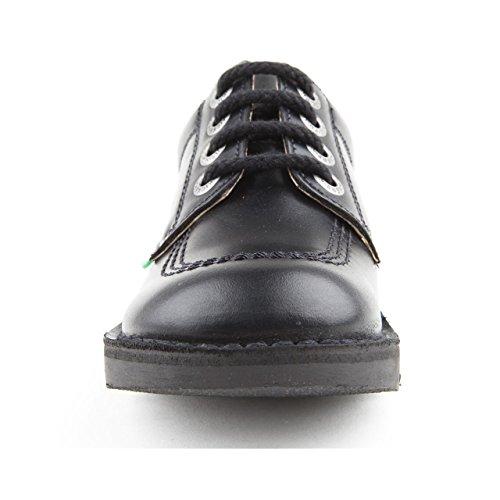Kickers Kick lo J Boys Core schwarz Leder Schuhe