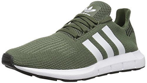 adidas Originals Women's Swift Running Shoe, Base Green/White/Black, 8.5 M US