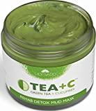 Facial Mask Homemade For Blackheads - TEA+C Green Tea and Cucumber Detox Mud Mask - Natural and Organic Face Mask - Anti-Aging, Antioxidant Defense Against Acne, Blackheads & Wrinkles for a Soft, Glowing Complexion