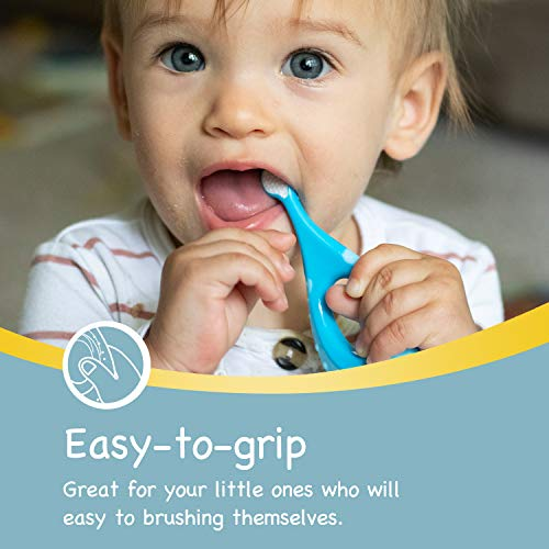 41qFyTmIq5L - Papablic Baby Toothbrush, Training Toothbrush For Age 0-2 Years | Infant Toothbrush With 10000 Ultra Soft Bristle, BPA Free, 4 Pack