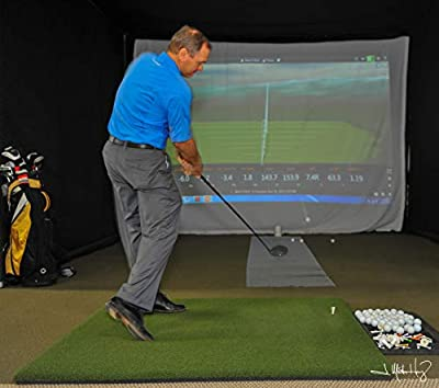 Real Feel Golf Mats The Original Country Club Elite 5x5 Heavy Duty Commercial Practice Mat. The First Golf Mat That Takes A Real Tee and Lets You Swing Down Through, Simulator, Indoor, Outdoor Use