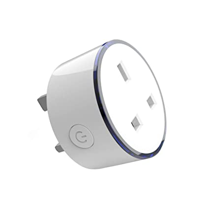 WIFI Smart Timer Plug Compatible with Alexa,Google Home Voice Remote  Control 8 RGB Scene Light Smart Socket No Hub Required for Wireless Timer