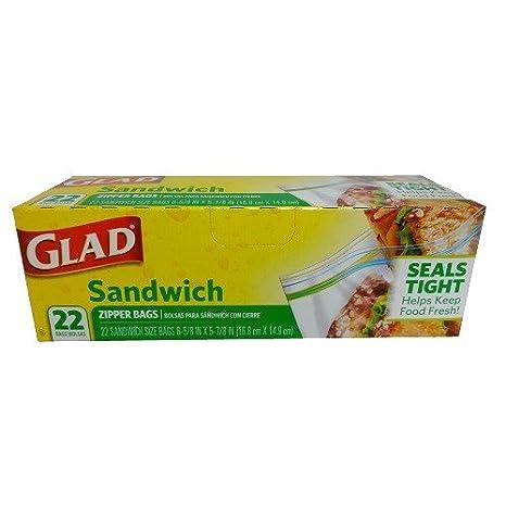 Amazon.com: Glad Sandwich Zipper Bags (22 Bags in 1 Package ...
