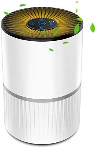 Purificador de Aire con Filtro HEPA, Filtración de 4 Etapas, Purificador Silencioso para el Hogar con 3 Velocidades de Ventilador y Función de Aromaterapia, Temporizador y Luz Nocturna Opcional: Amazon.es: Hogar