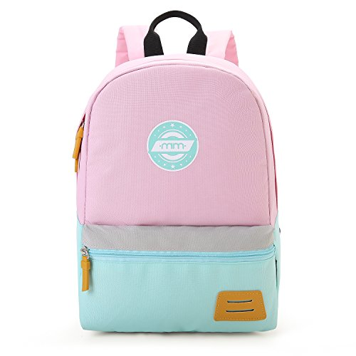mommore Kids Backpack for School Lunch Bag with Chest Clip Best for 3-6 Years Old (Pink and Blue)