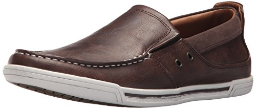 Leather Shoes Casual Men (Unlisted by Kenneth Cole Men's Press Loafer, Brown, 10.5 M US)