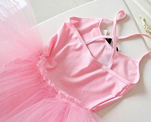 Pink Girls Ballet/Gymnastics Dress Tutu Dress ViCfZMP
