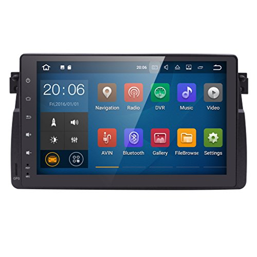 hizpo in Dash Car Audio Player 9Inch HD Touchscreen Android 7.1 OS Quad Core with GPS Navigation Fit for BMW 3 Series E46 M3 318 320 325 330 335