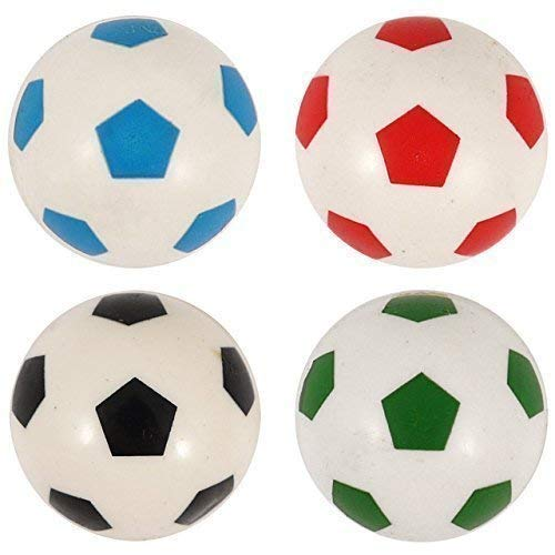 4x Flummi dopsball Rimbalzanti Pallone da calcio bianco colorato 3,5 CM REGALO COMPLEANNO