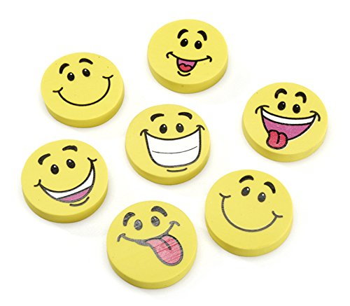 (Darice Smile Face Erasers - Assorted Styles - 24 pieces)