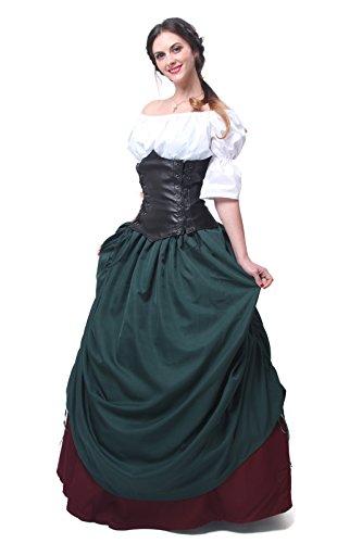 Nuoqi Womens Word Shoulder Bubble Princess Dress Victorian (Victorian Princess Costume)