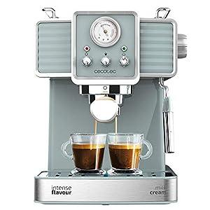 Cecotec Cafetera Express Power Espresso 20 Tradizionale para espressos y cappuccinos, rápido Sistema de Calentamiento por thermoblock, 20 Bares, manómetro PressurePro y vaporizador orientable 41qG 2Bp0yCsL