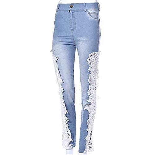 Blau Haute Ripped Stretch Mesdames Chic Slim Skinny Pants Denim Taille Jeans Sexy Pe I6yfgYb7v