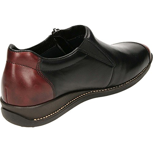 Casual Negro Burdeos Mujer Zapato Rieker 44294 Impermeable HaE7qS